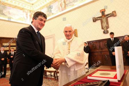 Bamir Topi and Pope Benedict XVI