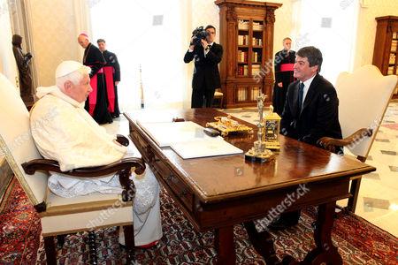 Pope Benedict XVI and Bamir Topi