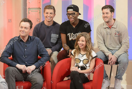 Stephen Mulhern, The Loveable Rogues- Sonny Jay, Te Eugene [Tay] and Eddie Brett and Molly Rainford
