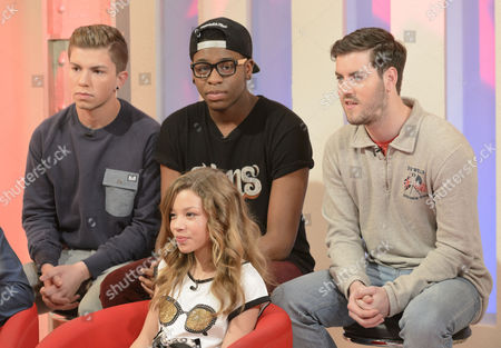 The Loveable Rogues- Sonny Jay, Te Eugene [Tay] and Eddie Brett with Molly Rainford
