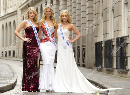 Alize Lily Mounter,current Miss England, Lady Angie Sinclair,Miss England 1995 and Laura Colman, Miss England 2008