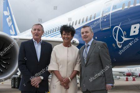 Stock Image of Steve Ridgway, Chief Execuutive Virgin Atlantic Airways, Chris Browne, Managing Director Thomson Airways and Willie Walsh Chief Exec IAG
