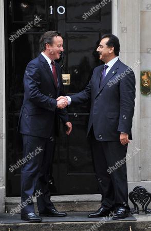 Stock Image of David Cameron and Yousuf Raza Gilani