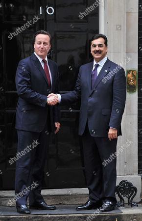 Stock Picture of David Cameron and Yousuf Raza Gilani
