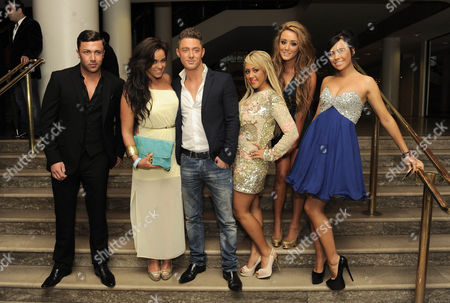 James Tindle, Guest, Guest, Sophie Kasaei, Holly Hagan and Charlotte Letitia Crosby of Geordie Shore