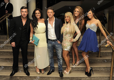 Stock Picture of James Tindle, Guest, Guest, Sophie Kasaei, Holly Hagan and Charlotte Letitia Crosby of Geordie Shore