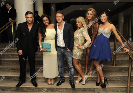 Stock Image of Vicky Pattison, Sophie Kasaei, Holly Hagan, Charlotte Letitia Crosby and James Tindle of Geordie Shore