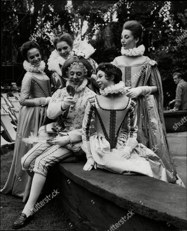 The Rehearsal Of 'love Labours Lost' L To R Jill Dixon As Rosaline May Steele As Princess Of France John Warner As Boyet Dona Matyn As Katherine And Mia Anderson