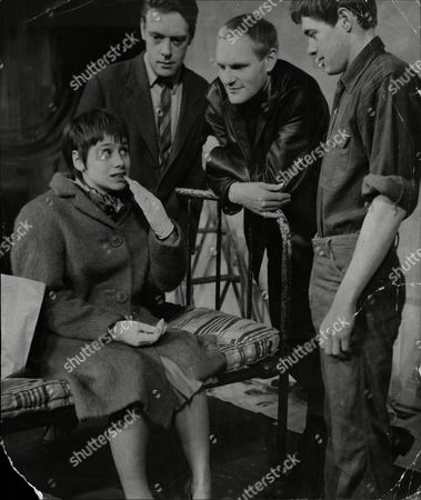 Theatrical Plays 'the Knack' Starring James Bolam As Tom Philip Locke As Colin Julian Glover As Tolen And Rita Tushingham As Nancy