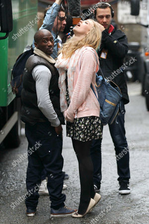 Editorial photo of 'The Voice' finalists from Team Jessie arrive at the 100 Club, London, Britain  - 10 May 2012