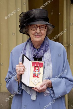 Dame Penelope Lively after receiving her Dame Commander