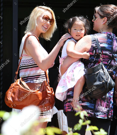 Katherine Heigl and daughter Naleigh Heigl with nanny