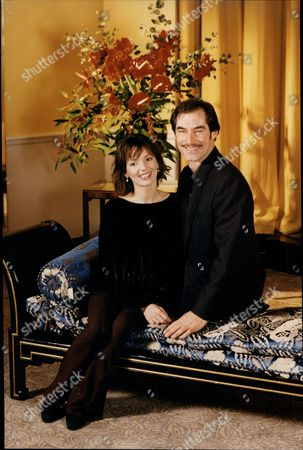 Actor Timothy Dalton With Actress Joanne Whalley Kilmer Photocall For Film 'scarlett'