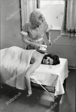 Virginia Ironside Journalist Receives Massage At Buxted Park Health Hydro Uckfield Sussex 1967.