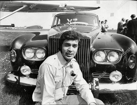 Singer Engelbert Humperdinck With His Rolls Royce