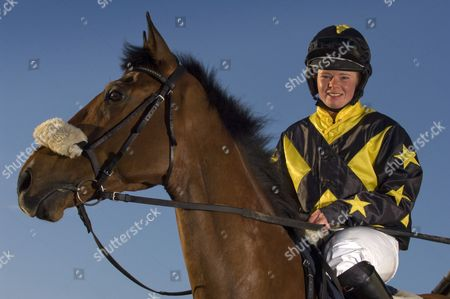 Stock Image of Jess Westwood with her horse 'Monkerty Tunkerty'