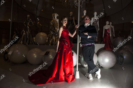 Editorial photo of Ballgowns:British Glamour since 1950 exhibition, Fashion Gallery, V&A, London, Britain - 14 May 2012
