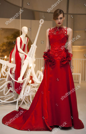 Editorial image of Ballgowns:British Glamour since 1950 exhibition, Fashion Gallery, V&A, London, Britain - 14 May 2012