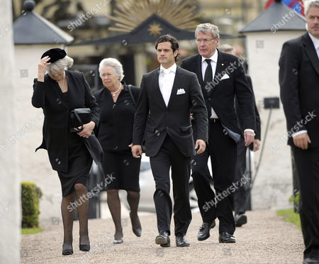 Stock Picture of Princess Margaretha and Princess Christina together with Prince Carl Philip