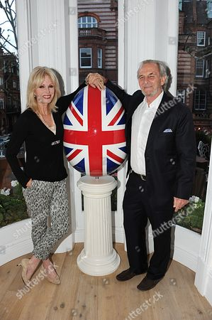 Stock Picture of Joanna Lumley and Mark Stand