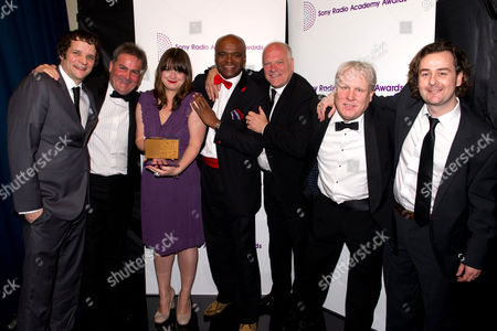 Stock Picture of Guests with Andy Gray, Richard Keys and Kriss Akabusi