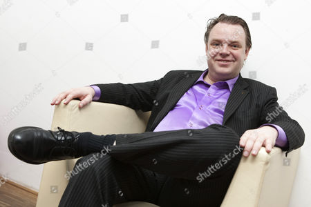 Editorial image of Rick Falkvinge, leader of the Swedish Pirate Party, Prague, Czech Republic - 15 Apr 2012