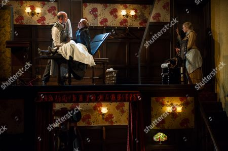 'In the Next Room' - Paul Hickey (Dr Givings), Flora Montgomery (Sabrina Daldry) and Katie Lightfoot (Catherine Givings).