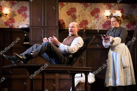 'In the Next Room' - Paul Hickey (Dr Givings) and Lucy Robinson (Annie).