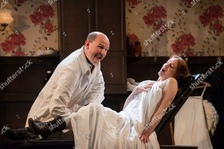 'In the Next Room' - Paul Hickey (Dr Givings) and Flora Montgomery (Sabrina Daldry).