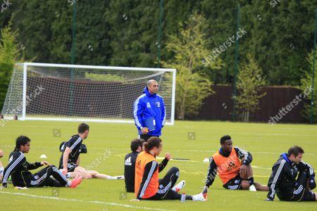 Roberto Di Matteo, David Luiz, John Obi Mikel and Frank Lampard
