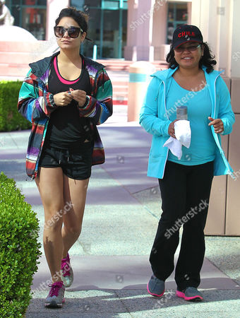 Stock Photo of Vanessa Hudgens and mother Gina Guangco