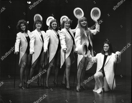 Editorial picture of L To R Sabina Franklyn Daughter Of William Franklyn Sorel Johnson Daughter Of Richard Johnson Sarah Scott Daughter Of Terry Scott Pat O'toole Daughter Of Peter O'toole Liz Crowther Daugter Of Leslie Crowther And Daisy Bews Daughter Of Rodney Bewes