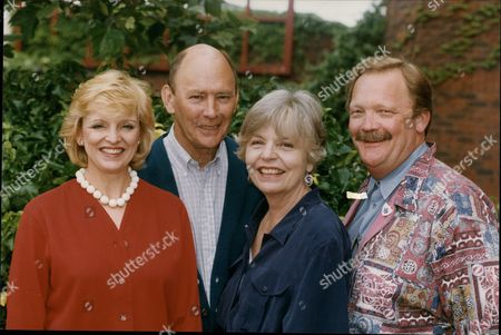 Stock Photo of The Cast Of The Play Don't Rock The Boat (ltor) Jane Rossington Garfield Morgan Pauline Yates And Michael Sharveu Martin. The Play Is At The Orchard Theatre In Dartford