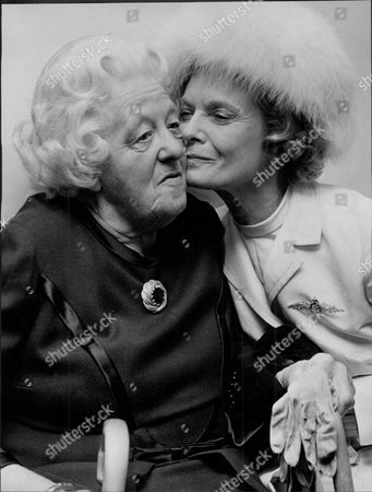 The Tribute To Dame Anna Neagle Showing Dame Anna Neagle Greeting Margaret Rutherford (dead May 1972)