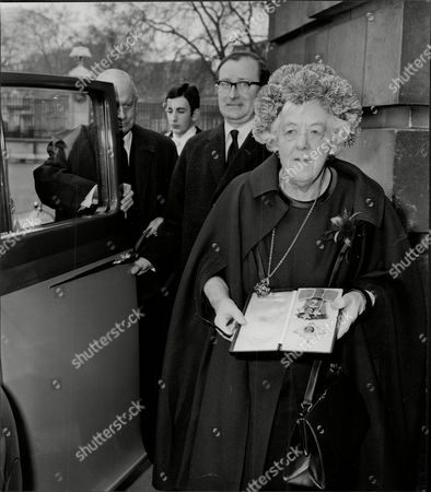 Actress Margaret Rutherford (dead May 1972) Leaving Buckingham Palace After Being Made A Dame Commander