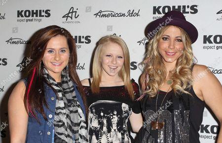 Skylar Laine, Hollie Cavanagh and Elise Testone