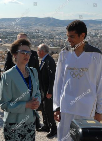 Editorial picture of Olympic Flame Torch Ceremony, Acropolis, Athens, Greece - 16 May 2012