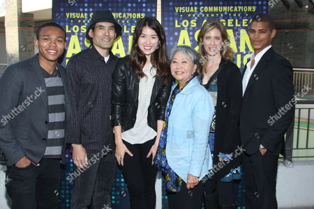 Robert Bailey, Chris Tashima, Nichole Bloom,  Takayo Fischer, Helen Slater and Delon de Metz