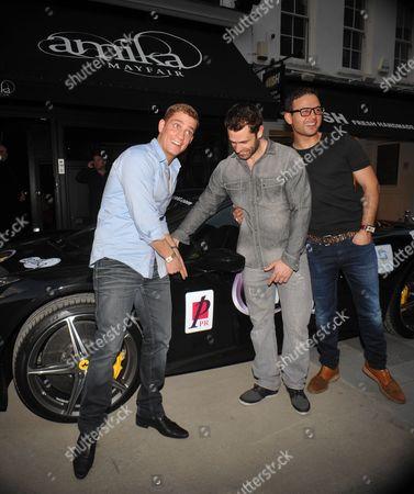 Philip Olivier, Kelvin Fletcher and Ryan Thomas