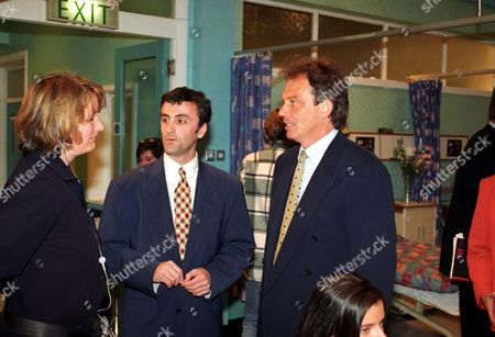 Tony Blair and Kieran Roberts [centre].