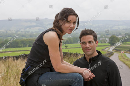 Charlotte Uhlenbroek and Gethin Jones in Yorkshires Peak District.