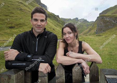 Gethin Jones and Charlotte Uhlenbroek in the Winnats Pass in Yorkshires Peak District.