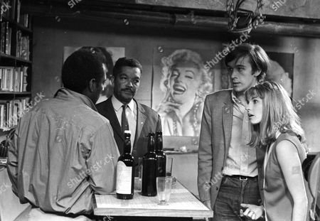 Errol John as Jason Reed, Earl Cameron as Matthew Ramsay, Peter Egan as Peter Morris and Tandy Cronyn as Janet Goss