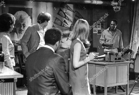 Dolores Mantez as Carey Ford, Peter Egan as Peter Morris, Earl Cameron as Matthew Ramsay, Tandy Cronyn as Janet Goss and Errol John as Jason Reed