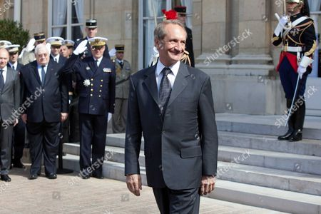 Outgoing Defence Minister Gerard Longuet