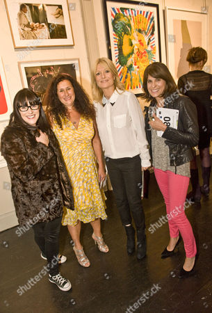 Anna Richardson, Jo Manuel, Gaby Roslin and LInda Brusasco who made a film about Hirst aired on C4