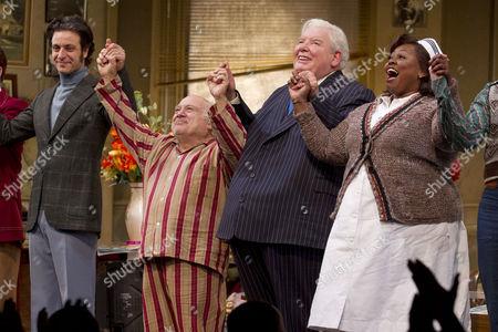 Adam Levy (Ben Silverman), Danny DeVito (Willie Clark), Richard Griffiths (Al Lewis) and Johnnie Fiori (Registered Nurse)