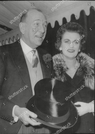 Noel Coward Arrives With The Duchess Of Argyll To The Wedding Of Daphne Fairbanks To David Weston At The Guards Chapel