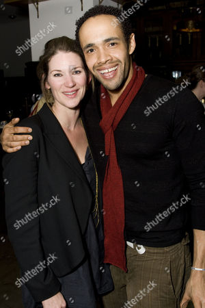 Patricia Potter and Leon Lopez attend the after show party on Press Night for Piaf at the National Gallery Cafe