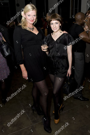 Stock Picture of CJ Johnson (Company) and Anna Lowe (Company) attend the after show party on Press Night for Piaf at the National Gallery Cafe